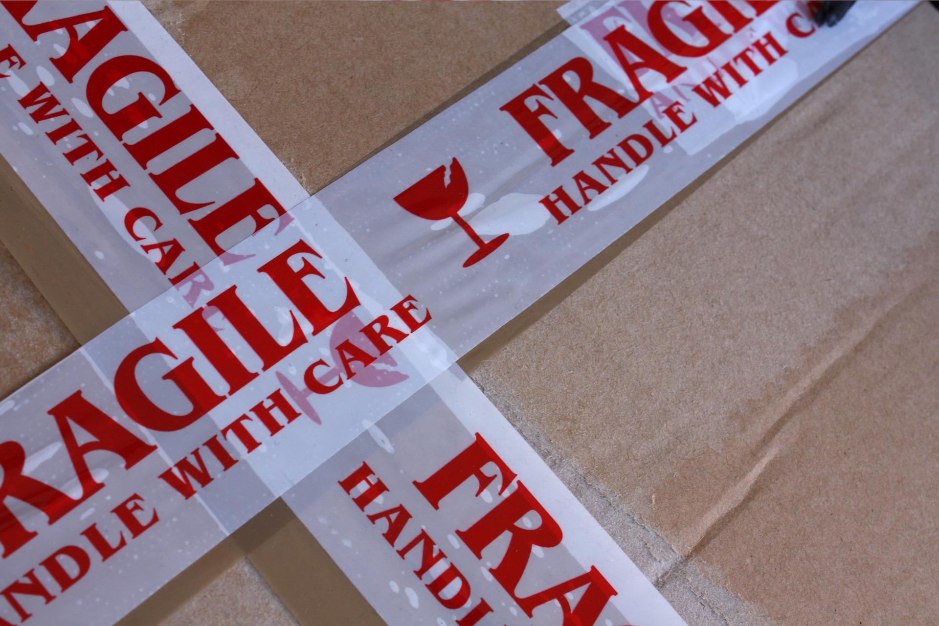 enviar un paquete frágil