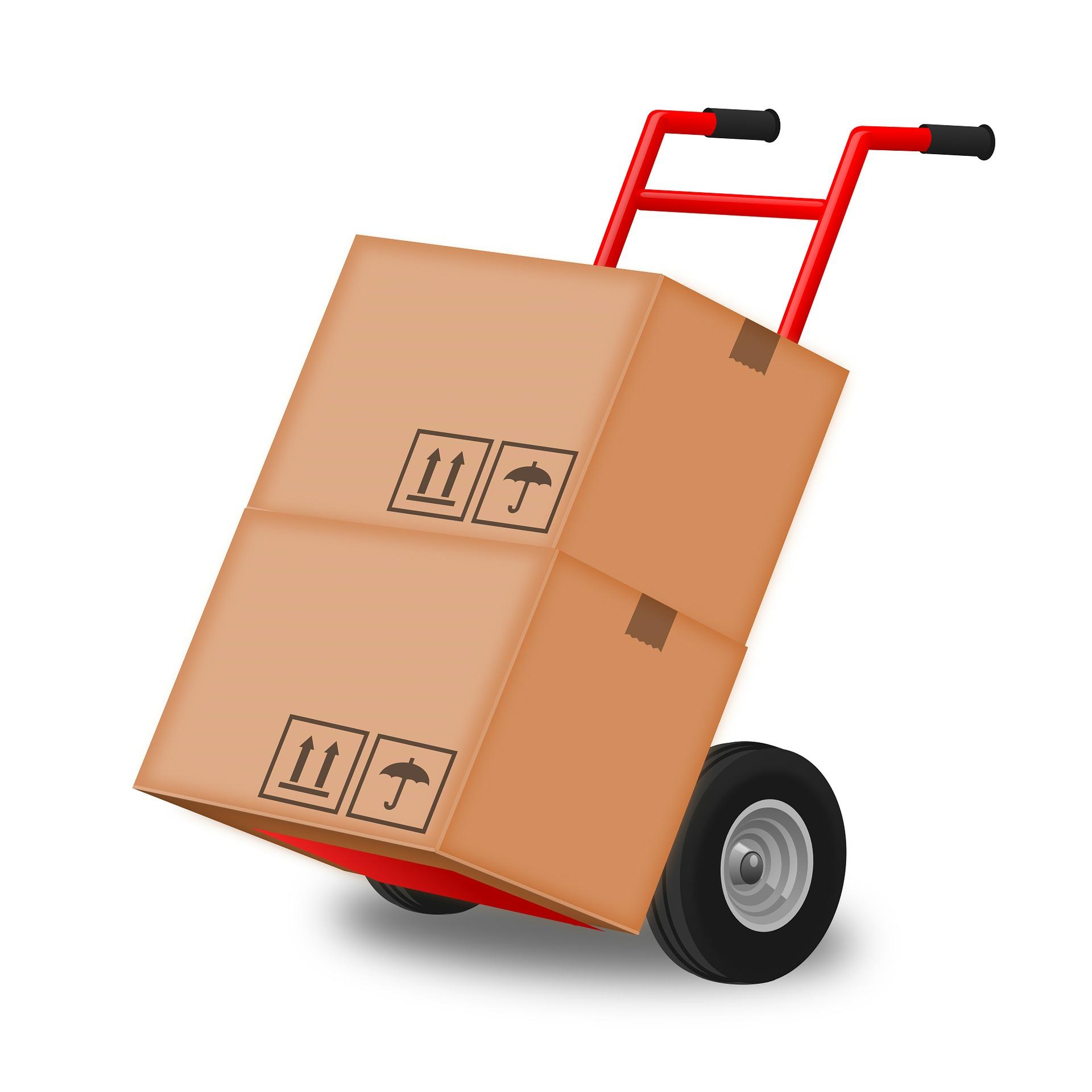 caja para envíos de mensajería